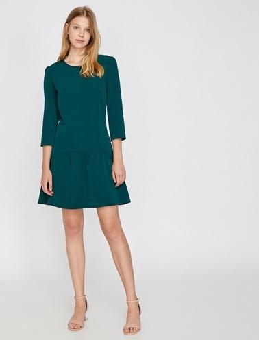 Koton Truvakar Kol Kısa Elbise Yeşil